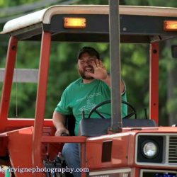Tractor driving is one of the most fun jobs, especially in the 4th of July Parade!