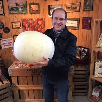 John (tied for first) in the 2018 Great White Pumpkin Contest!