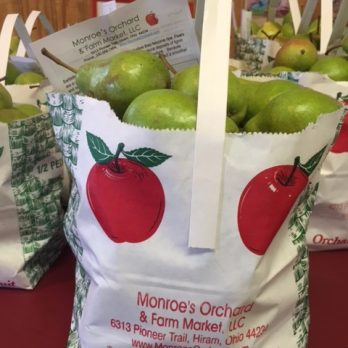 Bartlett Pears!  Each bag of our Bartletts include an information sheet with recipe.