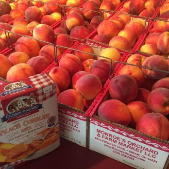 Peaches...ready for peach cobbler!