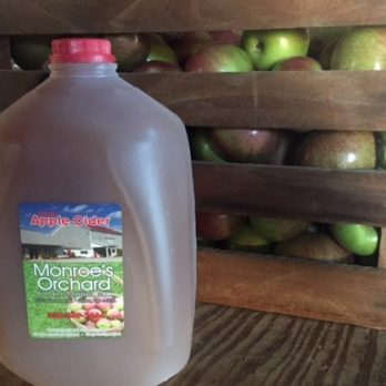 Monroe's Orchard apple cider!  The best, and available from mid September - Christmas!
