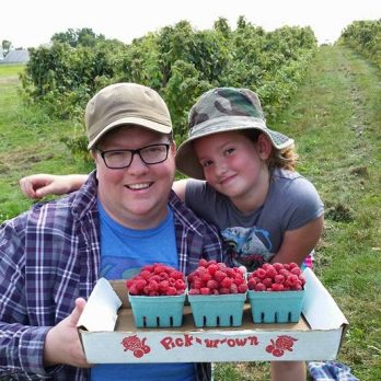 PYO Raspberries -great Father - Daughter adventure!