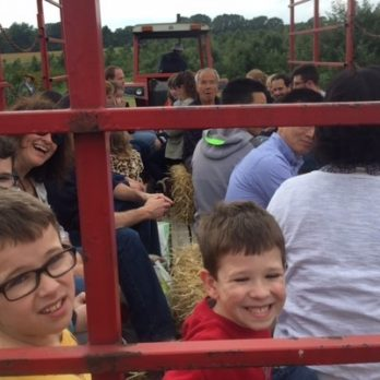 Wagon rides at Monroe's Orchard are always fun!