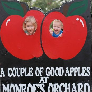 A couple of good apples at Monroe's Orchard!