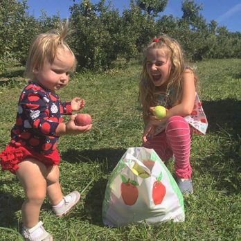 Sister fun at Monroe's Orchard Apple Harvest Festivals!