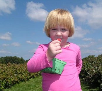 A favorite raspberry picker!