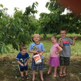 Family togetherness grows at Monroe's Orchard! So do friendships!